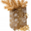 Cristmas gift package - Stock Photo