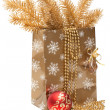Stock Photo: Cristmas gift package