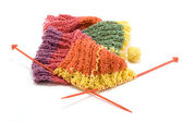 Knitted scarf — Stock Photo