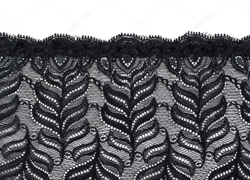 Decorative lace with pattern on white background — Stock Photo #2012352
