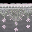 Lace decorated by pattern — Stock Photo
