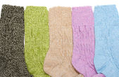 Colour sock put in row — Stock Photo