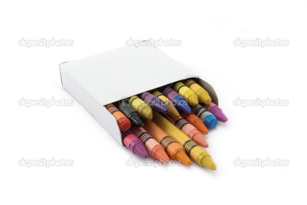 Boxes with pencil insulated on white background — Stock Photo #2095508