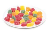 Fruit jellies on plate — Stock Photo