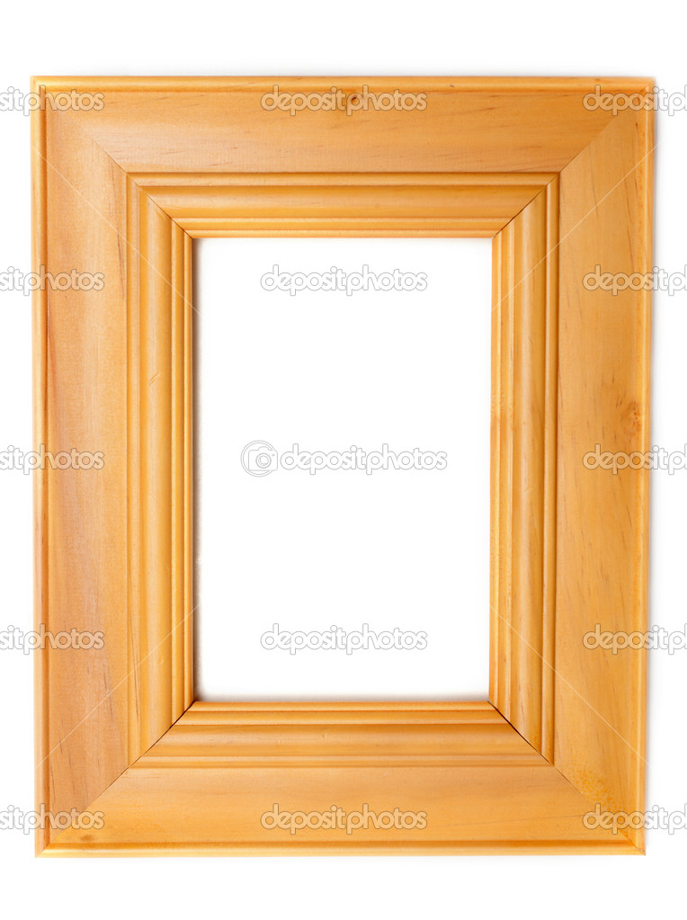 Wooden frame for photography on white background — Stock Photo #2109536
