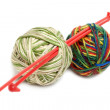 Two balls for knitting — Stock Photo