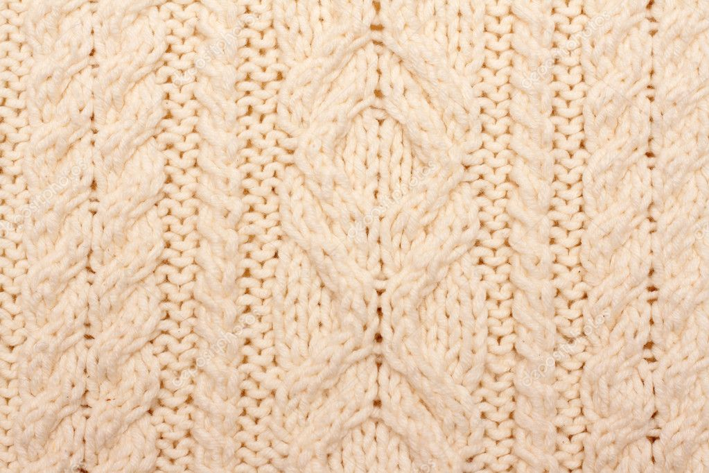 Knitted fabrics, pattern on light woolly fabrics — Stock Photo #2122529
