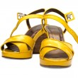 Yellow lady sandals — Stock Photo