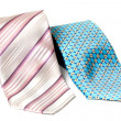 Stock Photo: Blue and rose ties