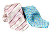 Blue and rose ties — Stock Photo