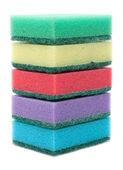 Colour sponges, tower — Stock Photo
