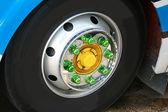 Bus wheel — Stock Photo