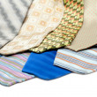 Male ties over white background — Stock Photo #2434680