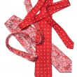 Male red ties strewn - Stock Photo