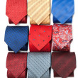Varicoloured male ties - Stock Photo