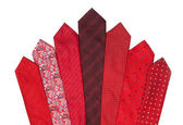Red and crimson ties — Stock Photo