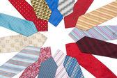 Male ties put around — Stock Photo