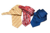 Three ties convolute — Stock Photo