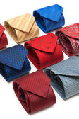 Varicoloured male ties — Stock Photo