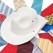 White hat on tie — Stock Photo