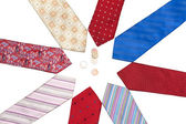 Male ties put around, euro, cent — Stock Photo