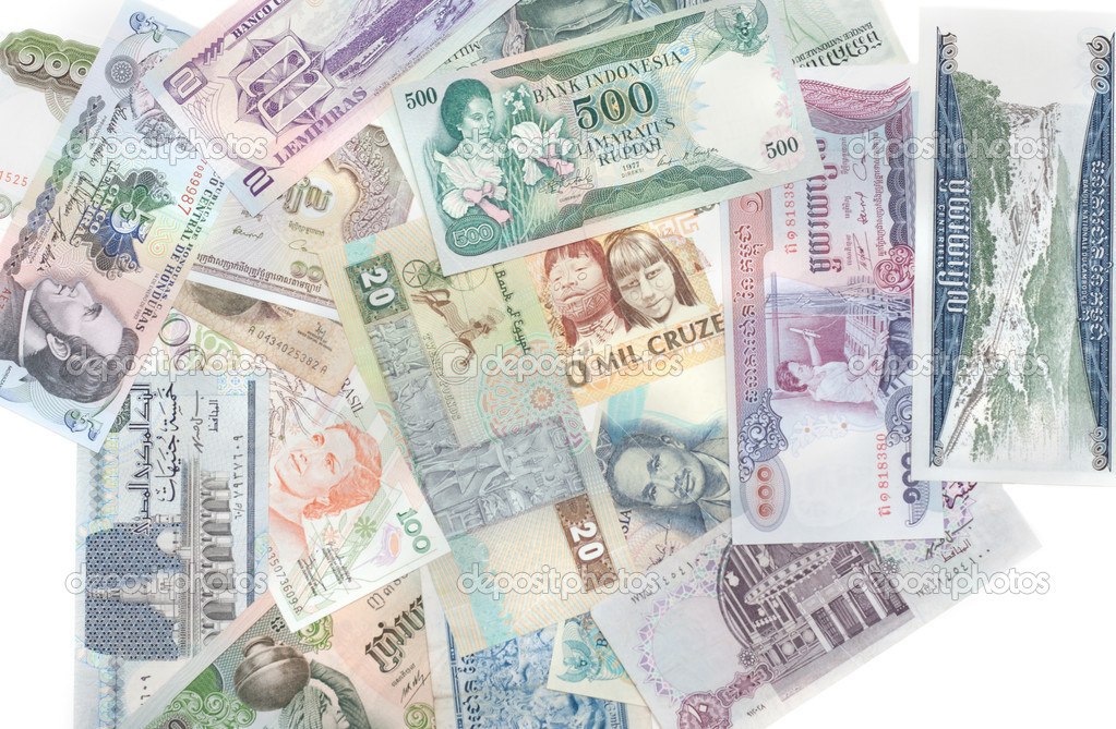Money different countries stock image