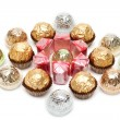 Sweetmeats in furious brilliant packing - Stockfoto