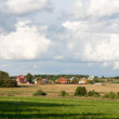 Rural lodges — Stock Photo