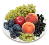 Still life, plate with fruit — Stock Photo
