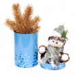 cristmas toy cylindrical box — Stock Photo