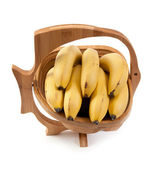 Wooden vase with ligament banana — Stock Photo
