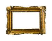 Broken gold vintage picture frame — Stock Photo