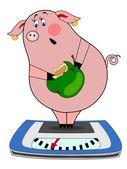 Cerdo medidas peso — Vector de stock