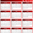 Royalty-Free Stock Photo: Year 2010 calendar