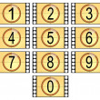 Numbered filmstrips - Stok fotoraf