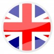 United kingdom round aqua button — Stock Photo