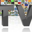Stock Photo: Tv