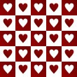 Valentines background with hearts — Photo