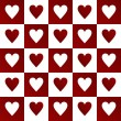 Valentines background with hearts — Foto Stock