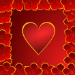Valentines background with heart — Stock Photo
