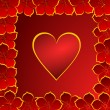 Valentines background with heart - Zdjęcie stockowe