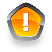 Warning internet button — Stock Photo