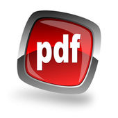 Pdf file internet icon — 图库照片