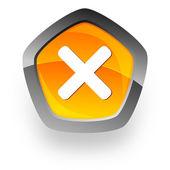 Cancel internet icon — Stock Photo
