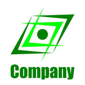 Green environmental company logo — Stock Photo