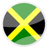 Jamaican round aqua button — Stock Photo