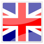 United kingdom aqua button — Stock Photo