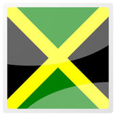 Jamaican aqua button — Stock Photo