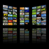 Multimedia center presentation — Stock Photo