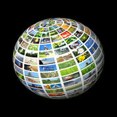 Multimedia sphere — Stock Photo